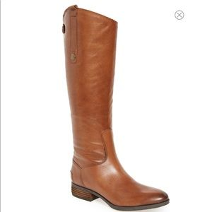 New Sam Edelman Whiskey Leather Knee Boots 8.5